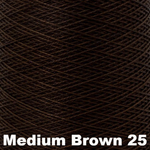 3/2 Mercerized Perle Cotton-Weaving Cones-Medium Brown 25-