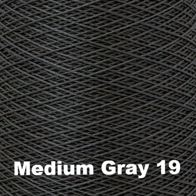 10/2 Perle Cotton 1lb Cones - Grey Scale Colors Medium Gray 19 - 3
