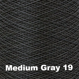 5/2 Perle Cotton 1lb Cones - Grey Scale Colors-Weaving Cones-Medium Gray 19-