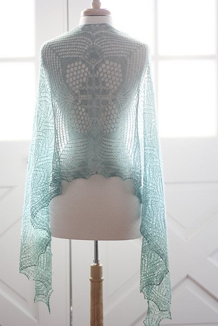 Romi Hill Meeks Bay Shawl Pattern  - 1