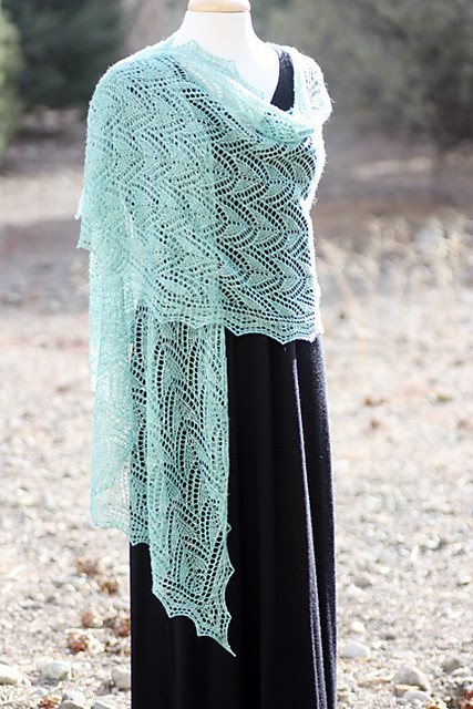 Romi Hill Meeks Bay Shawl Pattern  - 3