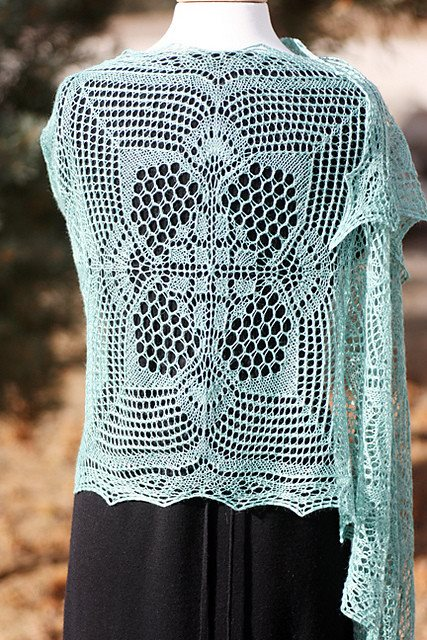 Romi Hill Meeks Bay Shawl Pattern  - 6