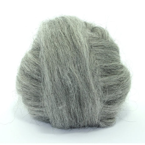 Paradise Fibers Icelandic Wool Roving 4oz / Mid Grey - 6
