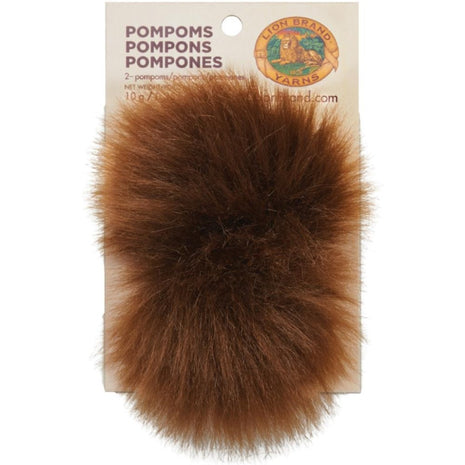 Pom-Poms 2/Pkg-Accessories-Notions-Mink 126-Paradise Fibers