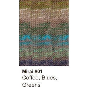 Noro Mirai Yarn-Yarn-01 Coffee/Blues/Greens-