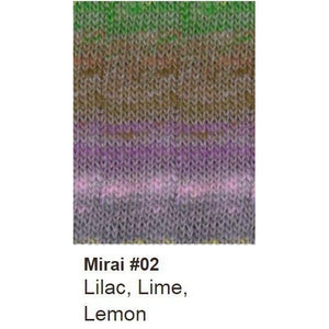 Noro Mirai Yarn-Yarn-02 Lilac/Lime/Lemon-