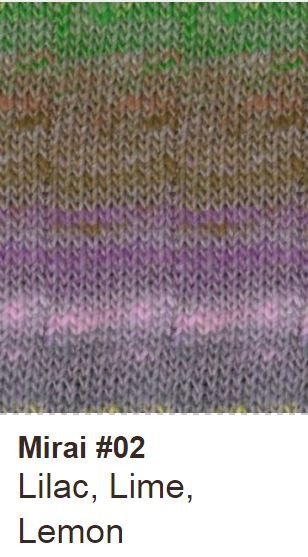 Noro Crescent Shawl Kit 02 Lilac/Lime/Lemon - 2