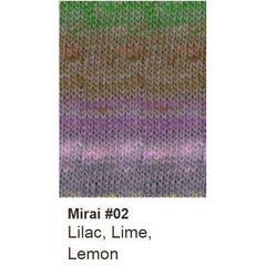 Noro Mirai Yarn 02 Lilac/Lime/Lemon - 2