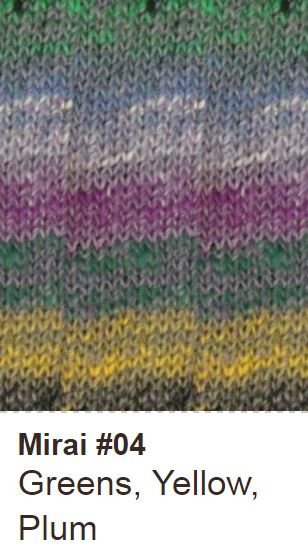 Noro Openwork Pullover Kit Small/Medium / 04 Greens/Yellow/Plum - 2