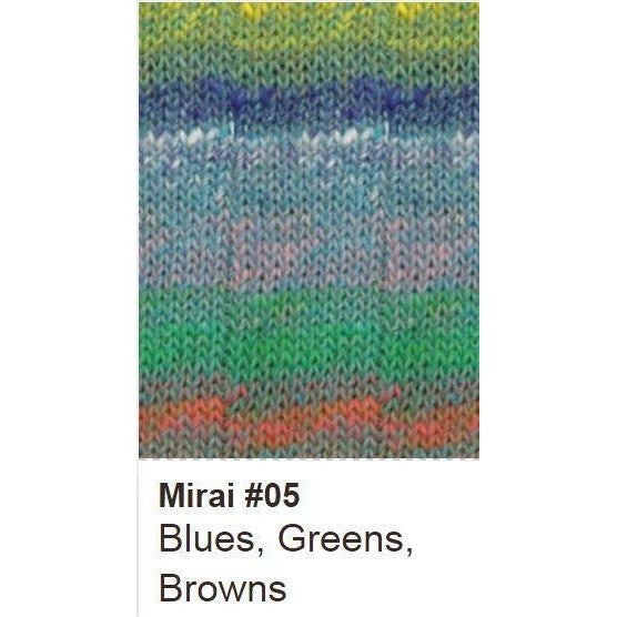 Noro Mirai Yarn 05 Blues/Greens/Browns - 5