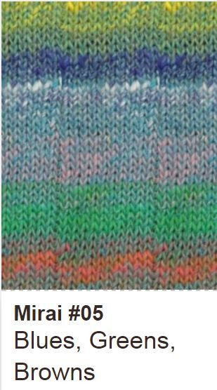 Noro Crescent Shawl Kit 05 Blues/Greens/Browns - 6