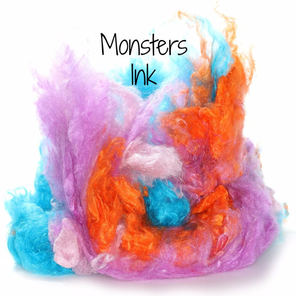 Camaj Hand Dyed Mulberry Silk Cloud- Soffsilk® Monsters Ink / 1oz - 5