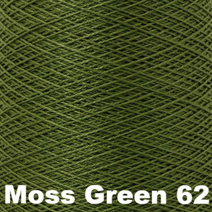 3/2 Mercerized Perle Cotton-Weaving Cones-Moss Green 62-