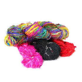 Recycled Sari Silk Yarn-Yarn-Paradise Fibers
