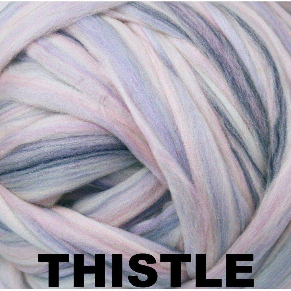 Ashland Bay Multi-Colored Merino Roving- Thistle (Special 1 lb bag)