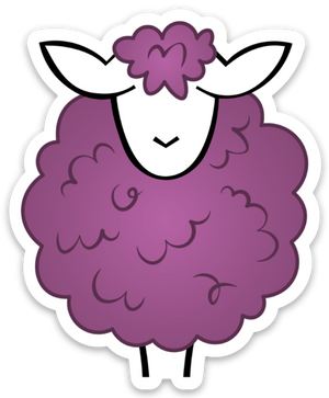Paradise Fibers Sheep Stickers-Stickers-Naturally Ewe-