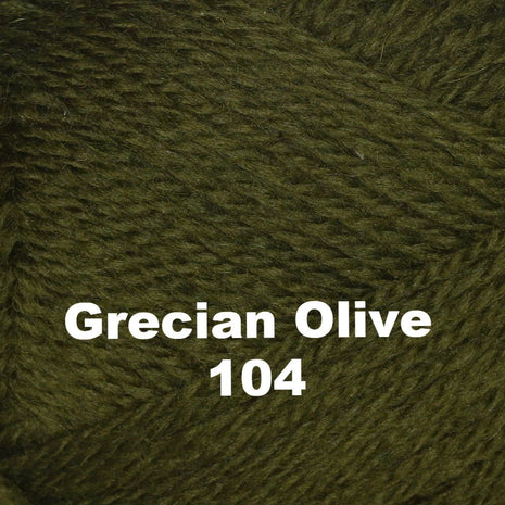 Paradise Fibers Yarn Brown Sheep Nature Spun Worsted Yarn Grecian Olive 104 - 4