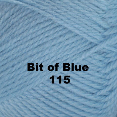 Paradise Fibers Yarn Brown Sheep Nature Spun Worsted Yarn Bit of Blue 115 - 11