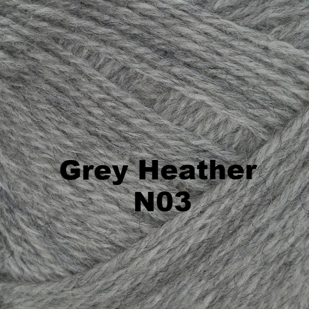 Brown Sheep Nature Spun Worsted Yarn Grey Heather N03 - 49