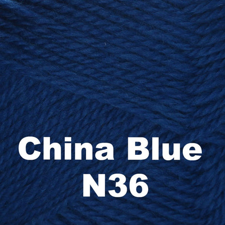 Brown Sheep Nature Spun Fingering Yarn China Blue N36 - 58