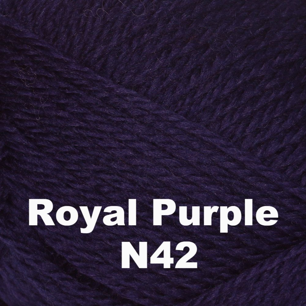 Brown Sheep Nature Spun Fingering Yarn Royal Purple N42 - 60