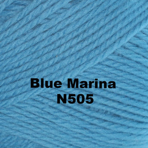 Paradise Fibers Yarn Brown Sheep Nature Spun Worsted Yarn Blue Marina N505 - 63