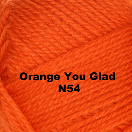 Paradise Fibers Yarn Brown Sheep Nature Spun Worsted Yarn Orange You Glad N54 - 64
