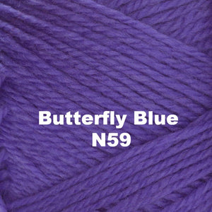 Paradise Fibers Yarn Brown Sheep Nature Spun Worsted Yarn Butterfly Blue N59 - 66