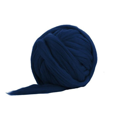 Soft Dyed (Navy Blue) Merino Jumbo Yarn - 7lb Special for Arm Knitted Blankets