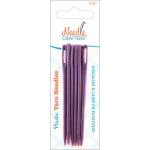 Needlecrafters Plastic Yarn Finishing Needles - 6 Pack-Tapestry Needles-