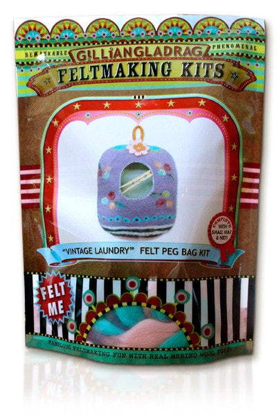 GillianGladrag Vintage Laundry Felt Peg Bag Kit  - 2