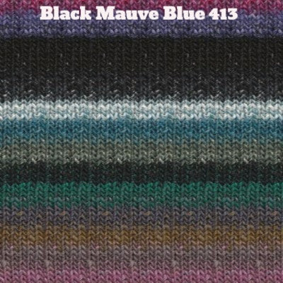 Noro Silk Garden Yarn Black Mauve Blue 413 - 34