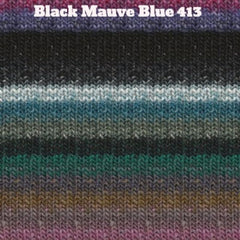 Paradise Fibers Yarn Noro Silk Garden Yarn Black Mauve Blue 413 - 34