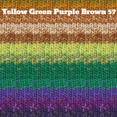 Noro Taiyo Yarn Yellow Green Purple Brown 57 - 13