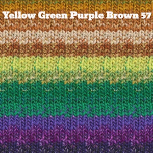 Noro Taiyo Yarn-Yarn-Yellow Green Purple Brown 57-