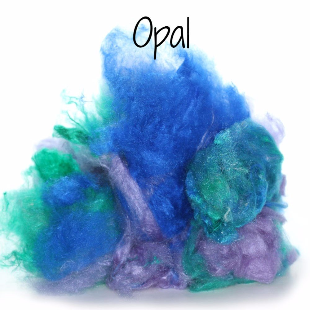 Camaj Hand Dyed Mulberry Silk Cloud- Soffsilk® Opal / 1oz - 10