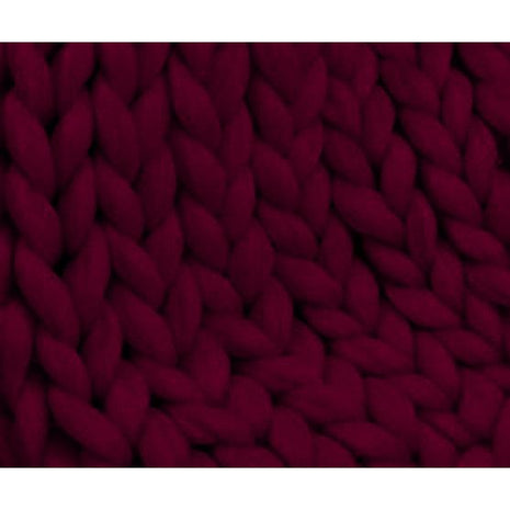 Solid Colored Corriedale Jumbo Yarn - Aubergine - 6.6lb (3kg) Special for Arm Knitted Blankets-Fiber-Paradise Fibers