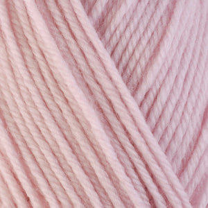 Alyssum 3310, a pale pink skein of washable worsted weight Ultra Wool yarn.