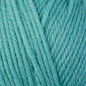 Aqua 3346, a light green-blue skein of washable worsted weight Ultra Wool yarn.