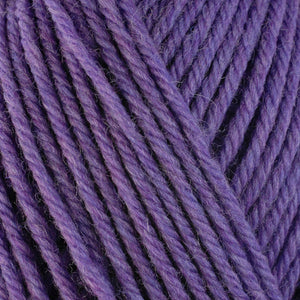 Aster 33146, a bright purple skein of washable worsted weight Ultra Wool yarn.