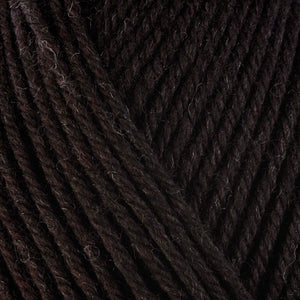 Bear 33115, a dark brown skein of washable worsted weight Ultra Wool yarn.