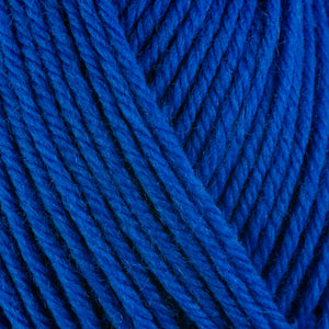 Blueberry 3342, a bright berry blue skein of washable worsted weight Ultra Wool yarn.