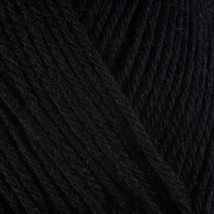 Cast Iron 3334, a black skein of washable worsted weight Ultra Wool yarn.