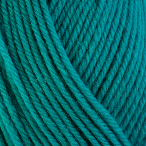 Chevil 3341, a bright turquoise blue skein of washable worsted weight Ultra Wool yarn.