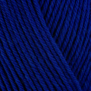 Cobalt 33156, a rich deep blue skein of washable worsted weight Ultra Wool yarn.