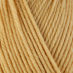 Delicata 3325, a mellow squash yellow skein of washable worsted weight Ultra Wool yarn.