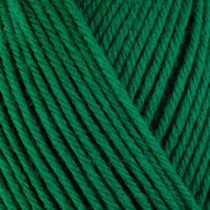 Holly 3335, a Christmas green skein of washable worsted weight Ultra Wool yarn.