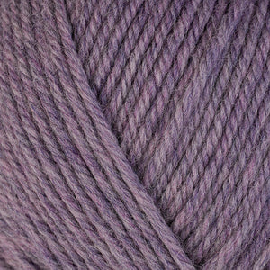 Iris 33123, a light heathered purple skein of washable worsted weight Ultra Wool yarn.