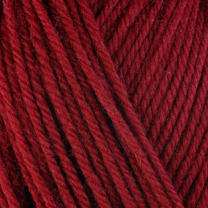 Juliet 3355, a red skein of washable worsted weight Ultra Wool yarn.