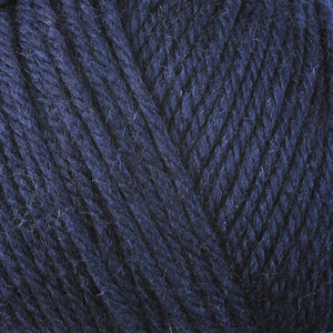 Maritime 3365, a dark blue skein of washable worsted weight Ultra Wool yarn.